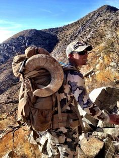 """GT Nunn of Frontier Outfitting packing out Chase Willis's 191"""" New Mexico Desert Bighorn (in a NICE 6500 since we know some of you want to know.  - Mystery Ranch"""