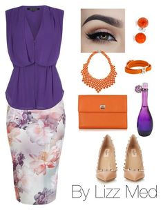 """Lilac"" by lizz-med ❤ liked on Polyvore featuring French Connection, Valentino, Pineider, Salvatore Ferragamo, Bling Jewelry and Jennifer Lopez"