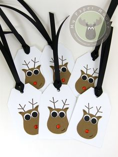 Rudolph Gift Tag from SU owl punch