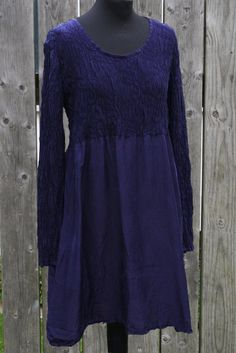 Silkekjole, mørk blå- Nina - Jalfe webshop