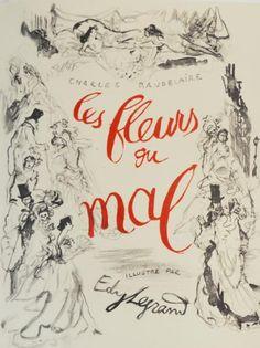 *EDY-LEGRAND & BAUDELAIRE (Charles). Les Fleurs du Mal. Casablanca, Maurice Robert pour les Bibliophiles Africains, 1950. In-4 broché, couv. rempliée sous chemise et étui. Illustrations d'Edy Legrand
