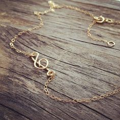 Dainty Sideways Treble Clef Necklace   musical gift for the music lover in your life!