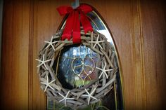 Driftwood and Starfish Wreath - Coastal Wreath - PICK YOUR RIBBON from @By The Seashore (carol)