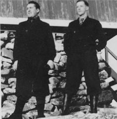 John Moe and Tor Glad (codenamed Mutt and Jeff by In April 1941 these two… Real Spy, Interesting History, Interesting Stories, Bletchley Park, Heavy Water, Man Of War, Royal Marines, Total War, Horror