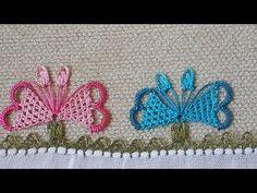 İğne Oyası, Kelebek Havlu Kenarı Modeli - İğne Oyası Sevdalilari