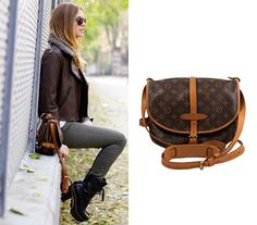 A chic fall outfit finished with a fashionable handbag by Louis Vuttion! http://bobags.com.br/bolsa-louis-vuitton-saumur-35.html #bagrental #adorobobags #aluguelouisvuitton