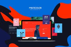 Multicolor UI Kit by Amirzhanuly on @creativemarket