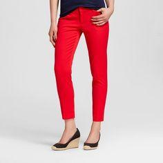 Women's Modern Ankle Pant Red Pop 18 - Merona, Redpop