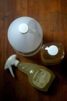 Just two ingredients in this homemade hardwood floor polish! Your hardwood floors will thank you.