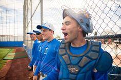 This baseball themed photograph of boys in a blue uniform was taken by Sandro Miller www.sandrofilm.com  #sunny #baseball #uniform #baseballfashion #gameday #baseballteam