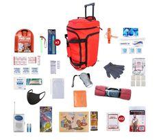 Guardian Survival Gear Survival Kit for Children (72+ Hours) - Red Wheel Bag