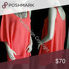 Bebe Coral Dress XS S Small Orange Send a note what size xs or s bebe Dresses Mini