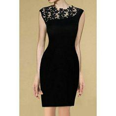 Elegant Round Neck Lace Splicing Sleeveless Black Dress For Women - Black Dresses - Ideas of Black Dresses Dress Up, Bodycon Dress, Sheath Dress, Mode Inspiration, Elegant Woman, Cotton Dresses, Pretty Dresses, Beautiful Outfits, Gorgeous Dress
