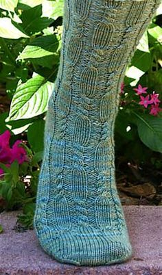 Ravelry: Waterfall Cable Sock pattern by Emmy Coplea