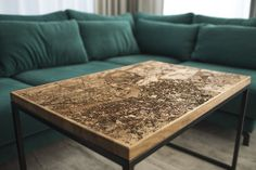 Engraved Wood and Resin Tables Glow With Maps of International Cities | Colossal