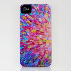 SPLASH, Revisited - Choose your Model iPhone 4 4S or 5 5S 5C Hard Case Beautiful Feminine Ocean Beach Waves Magenta Plum Turquoise Crimson