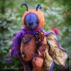 Купить Мотылек Императорский - мотылек, artmary, бабочка, ложка, нектар, император, мохер, мишка тедди