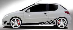 checkered striping -Interieursticker, autostickers of geboortesticker kopen?   Stickyshop  #autostickers #checkeredstriping