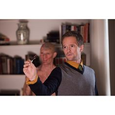 Beastly -Neil Patrick Harris as Kyle/Adrian's blind tutor, Will. And yes, the blind guy really is playing darts.