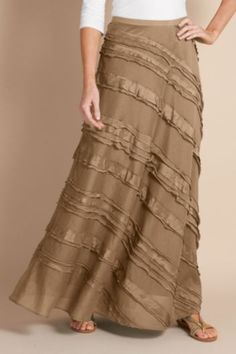 Soft Surroundings - Tiered long skirt