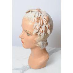 1950s hat/ 50s velvet millinery headband/ fascinator