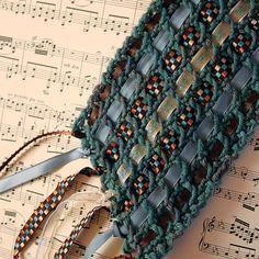 images of crochet stitches using bulky yarn | CROCHET PATTERNS USING NYLON RIBBON YARN - Crochet Club