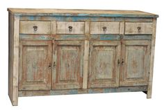 Rustic sideboard just waiting to be styled with beautiful accessories.