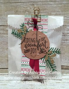 I love club time! This month for our project. Christmas Treats For Gifts, Christmas Candles, Christmas Gift Wrapping, Christmas Gift Tags, Christmas Stockings, Stampin Up Christmas, Christmas Paper, Christmas Crafts, Nordic Christmas