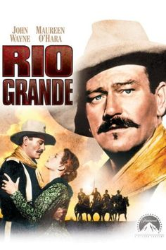 Rio Grande-In this John Ford classic, John Wayne and Maureen O'Hara are embroiled in an epic battle with the Apaches and each other. Yorke (John Wayne) leads his cavalry troops to the Rio Grande to fight a warring tribe. Old Movie Posters, Classic Movie Posters, Classic Movies, Old Movies, Great Movies, Movie Stars, Movie Tv, Capas Dvd, Westerns