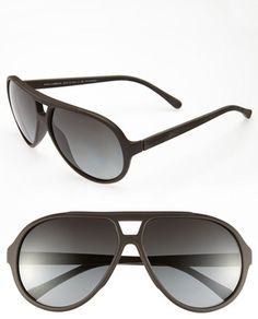1f405df07f2 Polarized lenses cut down on distracting glare on lightweight Italian  aviators finished in matte black.