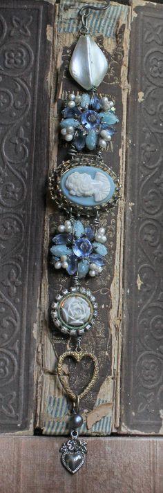Wedgewood Blue assemblage vintage bracelet by crownedbygrace