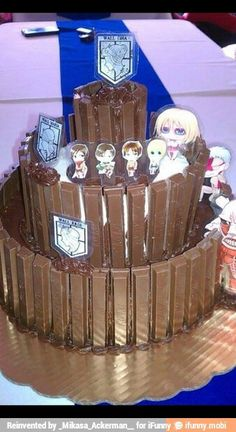 Attack on Titan cake!!!!!