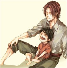 Luffy and Shanks   _One Piece