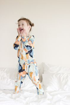 Modern Pajamas in #artgalleryfabic #bound knit // Delia Creates