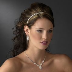 5 Sets Rhinestone and Pearl Bridesmaid Jewelry - Affordable Elegance Bridal -