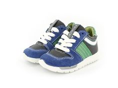 Shoesme RunFlex sneaker - Jongens - maat 19 t/m 30 - blauw/groen - zomer 2016