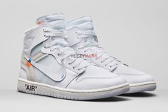 "OFF-WHITE x Nike Air Jordan 1 ""All White; SIZE:EUR36-47.5; Check out from https://www.yeezymark.net/index.php/air-jordan/off-white-x-nike-air-jordan-1-all-white.html"