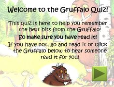 The Gruffalo Quiz: Interactive quiz activity in PowerPoint format