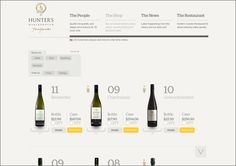 E-commerce web site design: wineshop.hunters.co.nz/wine-shop/