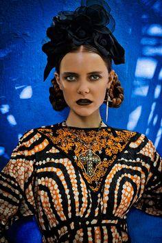 Mexican Holiday-Inspired Editorials - Marie Claire 'Dia de los Muertos' Stars Imogen Morris Clarke (GALLERY)