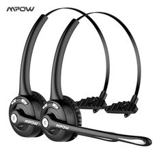 da655a36a95 1/2 pack Mpow Pro Professional Wireless Bluetooth headphone With Microphone  13H Talking Time For