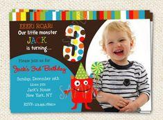 Monster Birthday Party Invitations by LollipopPrints on Etsy, $10.00