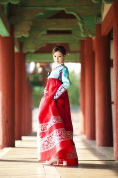Hanbok and hanbok shoes!! Korea