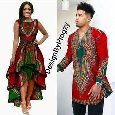 This is a native African Couple Outfit that can be one outdoors to social events. It is made of 100% cotton African Dashiki fabric print of highest quality that doesnt wash after several washes if you follow the care instructions. Contact us if you want these outfits made for you and
