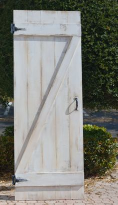 Custom Sliding Barn Door, Z-Barn Door, Shabby Chic White Barn Door by 1719JamieLuLane on Etsy