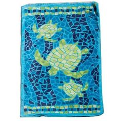 sea turtle mosaic for bench