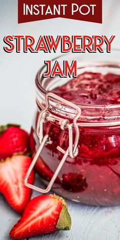 Instant Pot Strawberry Jam | Pressure Cooker Strawberry Jam | Homemade Fresh Strawberry Jam | How to Make an Amazing Strawberry Jam | Slow Cooker Easy Strawberry Jam | Strawberry Preserves Recipe | Classic Strawberry Jam Recipe for Canning | Instant Pot Recipes #recipes #strawberry #instantpot