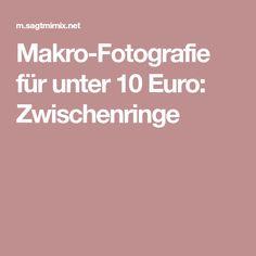 Makro-Fotografie für unter 10 Euro: Zwischenringe
