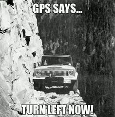 "(not a jeep, but.just sayin'). this montana girl loves a jeep.this could be ""going to the sun road in Glacier in the early days.but, c'mon people! Funny Meme Pictures, Funny Memes, Hilarious, Funny Quotes, Quotes Pics, The Meta Picture, Dangerous Roads, Vintage Jeep, Trucks"