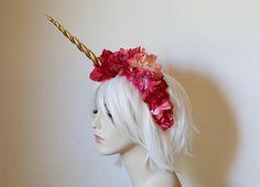 Hot Pink and Fuschia Unicorn Headdress fantasy wedding